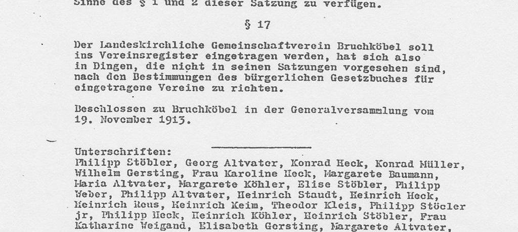 100 Jahre Evangelische Gemeinschaft Bruchköbel
