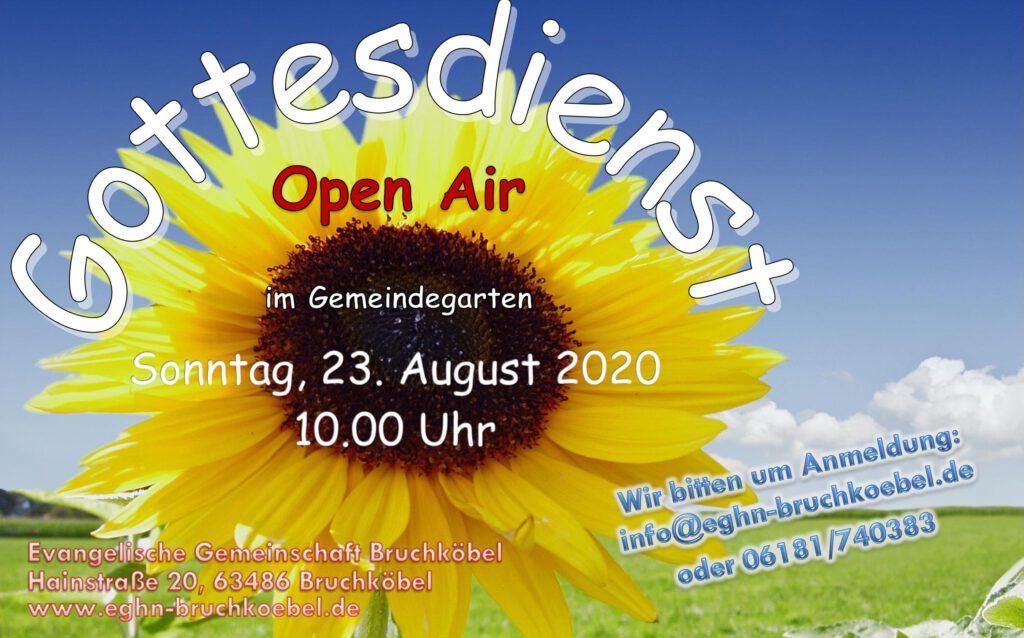 Einladung zum Open Air Gottesdienst