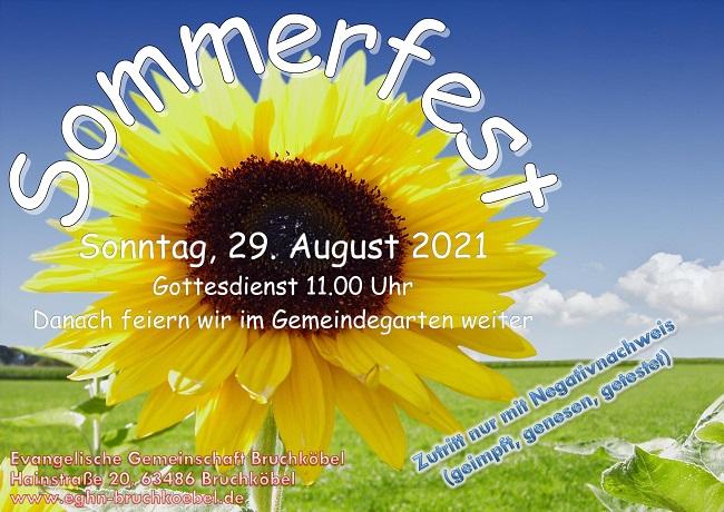 Sommerfest Einladungsflyer